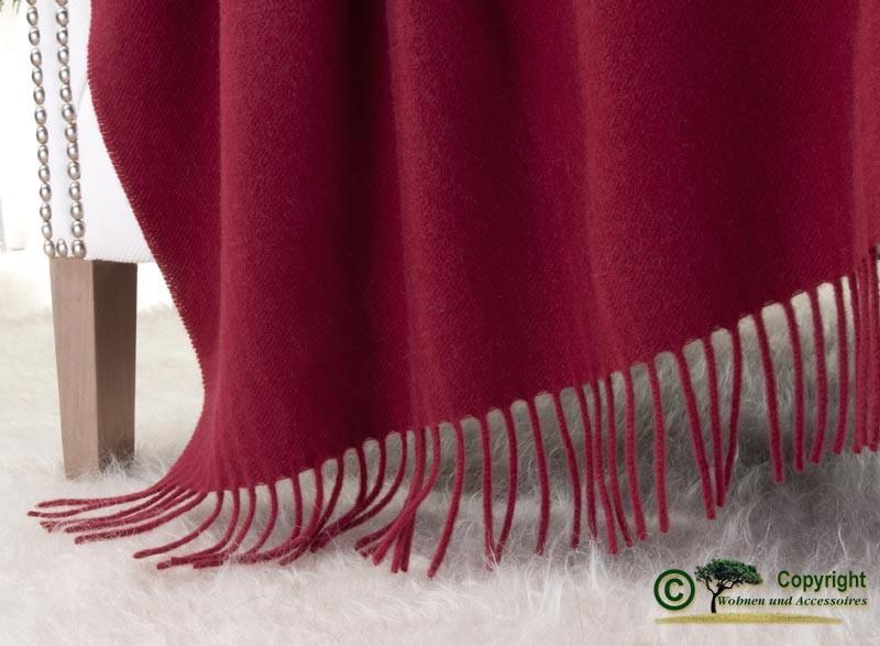 Kaschmirdecke Victoria rot, 100% Kaschmir 130x190cm