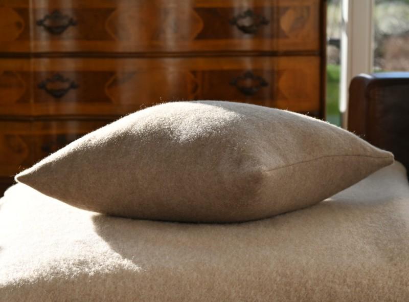 Kaschmir Kissen Amalfi in grau super sanft und fein 45x45cm