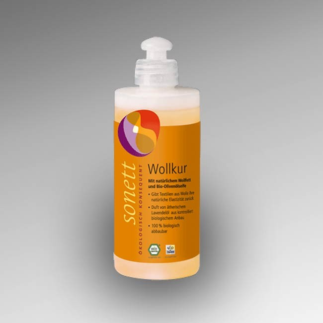 SONETT Wollkur 300ml - mit reiner Bio-Olivenölseife undnatürlichem Wollfett