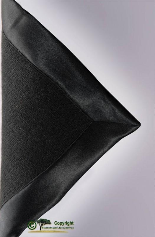 Gestrickte Kaschmirdecke aus Mailänder Traditionsbetrieb in schwarz 150x180cm