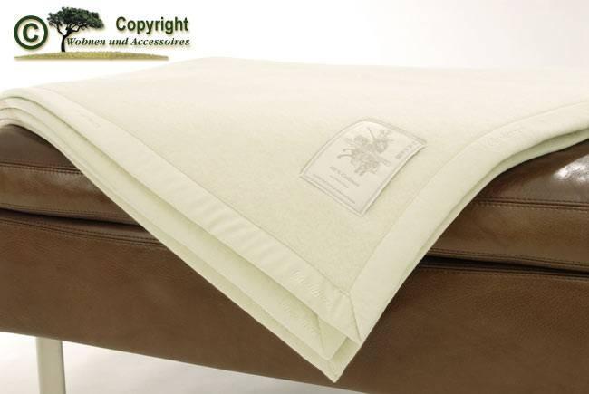 Kaschmirdecke von Ritter Elfenbein weiß 150x200