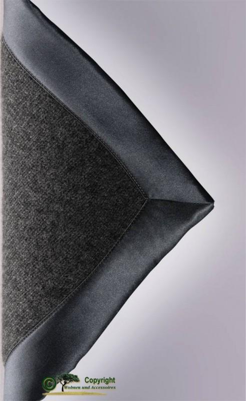 Gestrickte Kaschmirdecke aus Mailänder Traditionsbetrieb in anthrazit 150x180cm