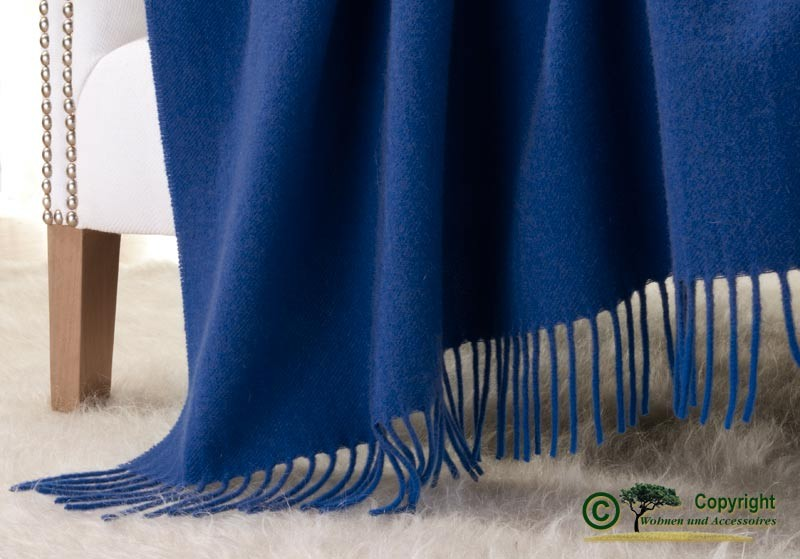 Kaschmirdecke Victoria blau, 100% Kaschmir 130x220cm